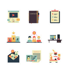 Project management icon business product planning vector