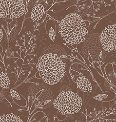 Seamless floral pattern with chrysanthemum vector