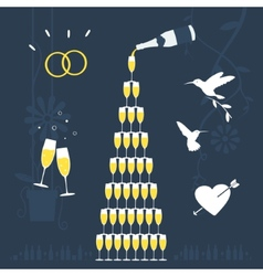 Set elements wedding vector image