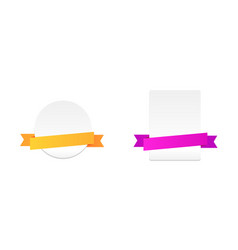 set labels with colour ribbons vector image