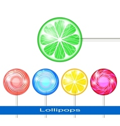 Set of lollipops vector