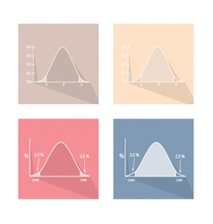 Set of Standard Normal Distribution Curve Chart vector