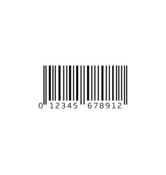 simple bar code vector image