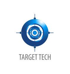 target technology 3d logo concept design symbol vector image