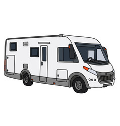 The white large motor home vector