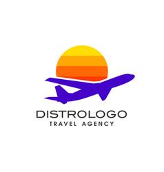 Travel agency logo design holiday logo design vector