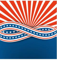 us independence dayabstract backgroundblue vector image