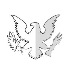Usa emblem frame icon vector