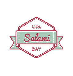 Usa salami day greeting emblem vector