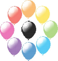 vector set of colorful balloons vector image