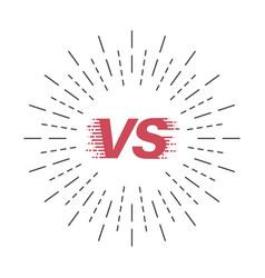 Versus style vs symbol with sunburst battle vector