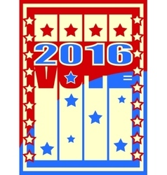 vote text on retro backdrop from usa flag elements vector image