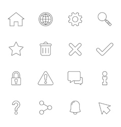 Web interface outline icons vector