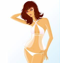 White bikini vector