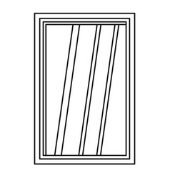 white window frame icon outline vector image