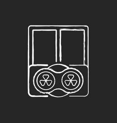Window fans chalk white icon on black background vector