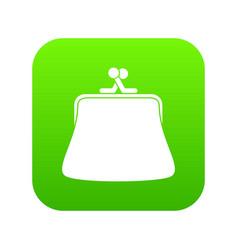 women wallet icon digital green vector image