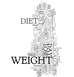 you don t need to go on a diet to lose weight vector image
