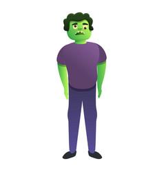 Zombie man icon cartoon style vector