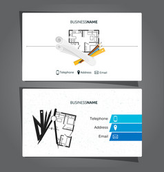 architecture and construction business card vector image vector image