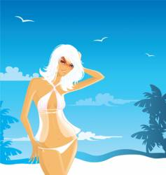 beach babe vector image