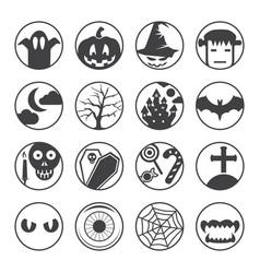 halloween black icons vector image vector image