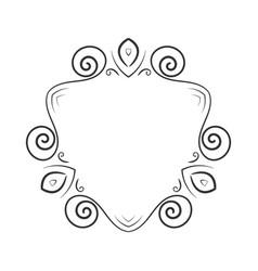 hand drawn frame element vector image