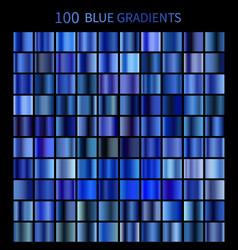 mega set of 100 blue gradients vector image vector image