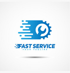 service template logo vector image