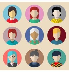 Set of avatars woman vector image vector image