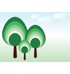 vector tree family vector image vector image