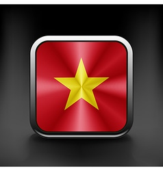 Vietnam icon flag national travel icon country vector image