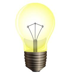 A yellow bulb vector image