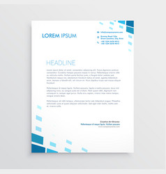 Clean letterhead design with abstract blue shapes vector
