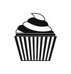 Cupcake icon simple style vector image vector image