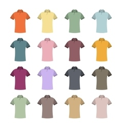 Set of colored t-shirts vector image