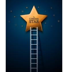 Way to the Stars of Cinema vector image
