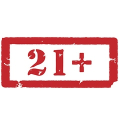 21 restriction sign vector image