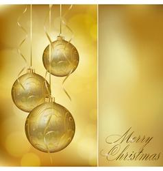 abstract golden christmas postcard vector image vector image