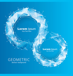 blue tech geometric background vector image vector image