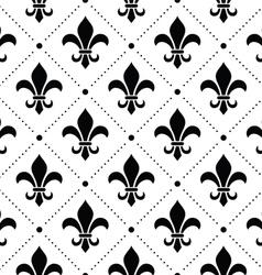 French Damask background - Fleur de lis pattern vector image