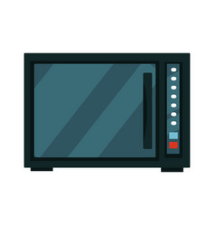 modern black microwave vector image