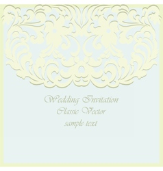 Vintage Card ornamental lace with floral elements vector image vector image