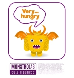 a monster saying very hungry vector image vector image
