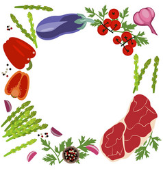banner of raw food vector image