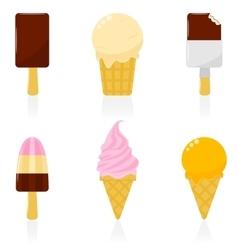 Icon Set Ice Cream vector image vector image