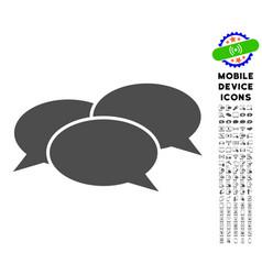 webinar icon with set vector image vector image