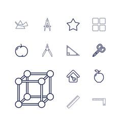 13 geometric icons vector