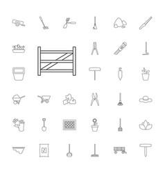33 gardening icons vector