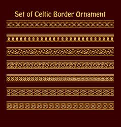 A set seamless golden celtic ornament for vector